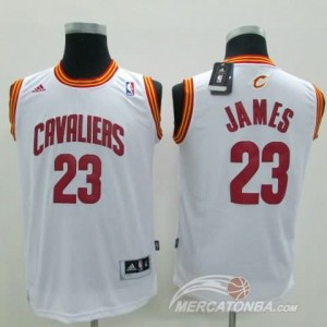 Maglie Bambini James Cleveland Cavaliers Bianco