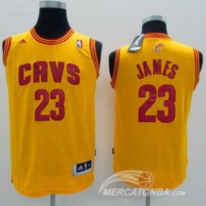 Maglie Bambini James Cleveland Cavaliers Giallo