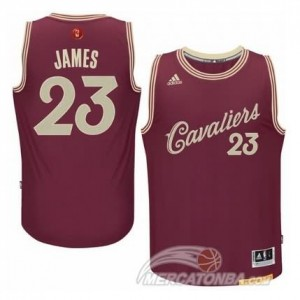 Maglie Basket James Christmas Cleveland Cavaliers Rosso
