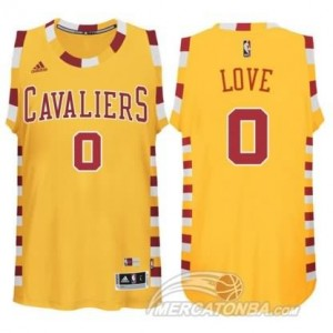 Maglie Basket Love Cleveland Cavaliers Giallo