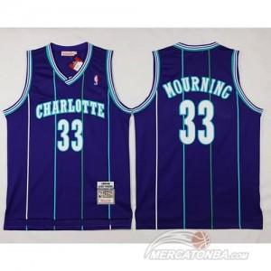 Canotte Basket Charlotte Mourning New Orleans Hornets Porpora
