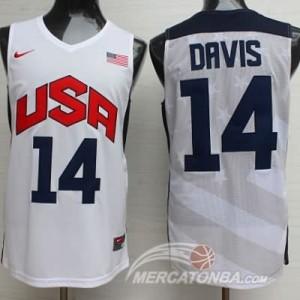 Canotte Davis USA 2012 Bianco