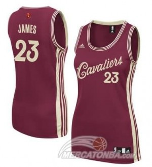 Maglie NBA Donna James Christmas Cleveland Cavaliers Rosso