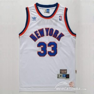 Maglie Basket Ewing New York Knicks Bianco