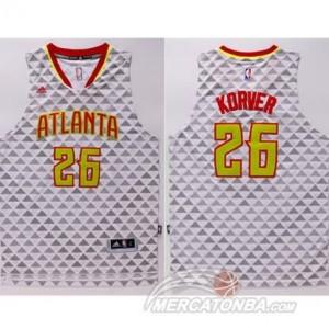 Maglie Basket Korver Atlanta Hawks Bianco