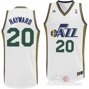 Maglie Basket Hayward Utah Jazz Bianco