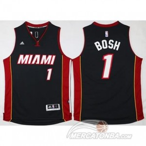 Maglie Shop Bosh Miami Heats Nero