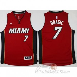 Maglie Shop Dragic Miami Heats Rosso