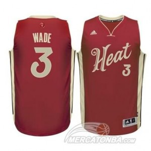 Maglie Basket Wade Christmas Miami Heats Rosso