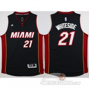 Maglie Basket Whiteside Miami Heats Nero