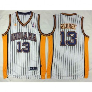 Maglie Basket Indiana George Indiana Pacers Bianco