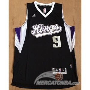 Maglie Basket Rondo Sacramento Kings Nero