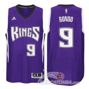 Maglie Basket Rondo Sacramento Kings Porpora