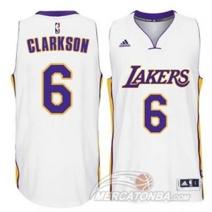 Maglie Shop Clarkson Los Angeles Lakers Bianco