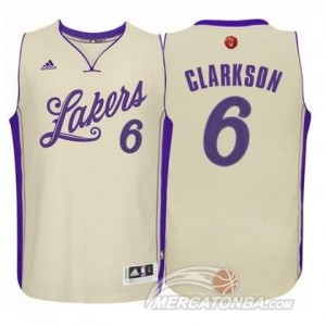 Maglie Shop Clarkson Christmas Los Angeles Lakers Bianco