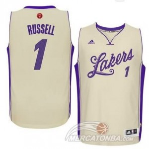 Maglie Basket Russell Christmas Los Angeles Lakers Bianco