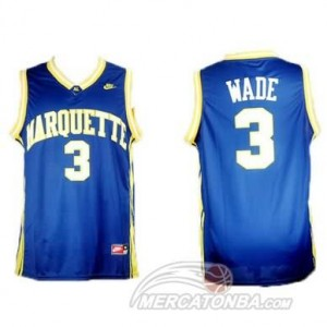 Canotte Basket NCAA Marquette Wade Blu
