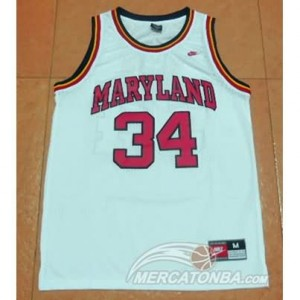 Canotte Basket NCAA Maryland Blas Bianco