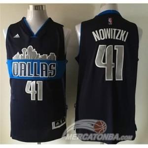 Maglie Basket Nowitzik Dallas Mavericks Blu