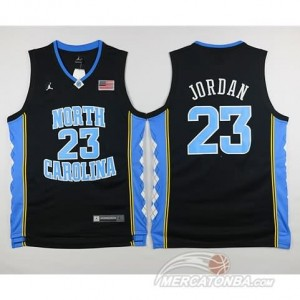 Canotte Basket NCAA North Carolina Jordan Nero