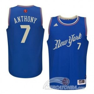 Maglie Shop Anthony Christmas New York Knicks Blu