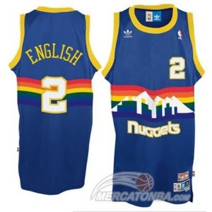 Maglie Shop English Denver Nuggets Blauw