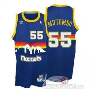 Maglie Basket Mutombo Denver Nuggets Blauw