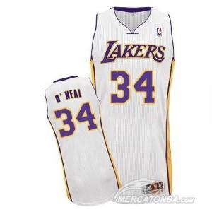 Canotte NBA Rivoluzione 30 O neal Los Angeles Lakers Bianco