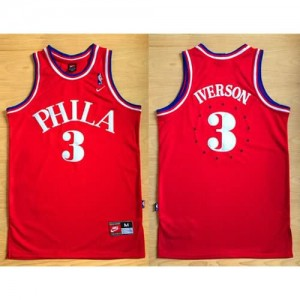 Maglie Basket Phila Iverson Philadelphia 76ers Rosso