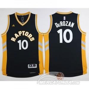 Maglie NBA Derozan Toronto Raptors Nero Oro