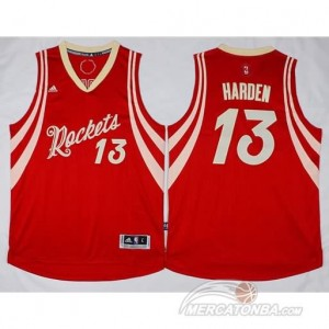 Maglie Basket Harden Houston Rockets Rosso