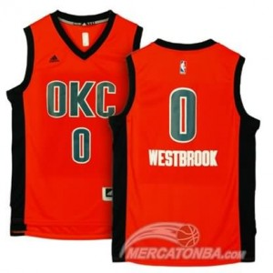 Maglie Basket Westbrook Oklahoma City Thunder Arancione