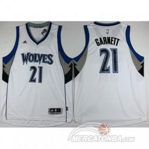 Maglie Shop Garnett Minnesota Timberwolves Bianco