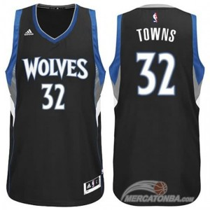 Maglie Basket Towns Minnesota Timberwolves Nero