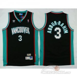 Maglie Basket Retro Vancouver Abdur-Rahim Memphis Grizzlies Nero