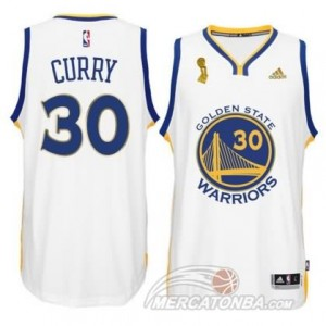 Maglie Shop Curry Golden State Warriors Bianco