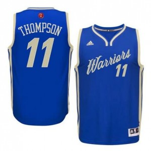 Maglie Basket Thompson Christmas Golden State Warriors Blauw