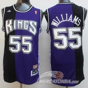 Maglie Basket Williams Sacramento Kings Viola Nero