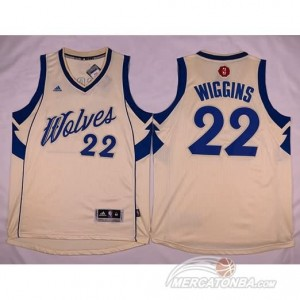 Maglie Basket Wiggins Christmas Minnesota Timberwolves Bianco