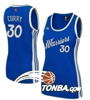 Maglie NBA Donna Curry Christmas Cleveland Warriors Blu