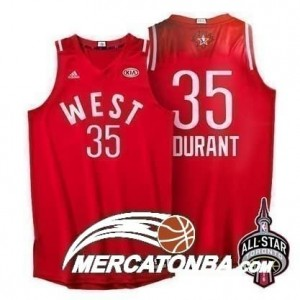 Canotte NBA Durant All Star 2016 Rosso