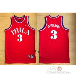 Maglie Basket retro Allen iverson Philadelphia 76ers Rosso