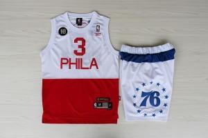 Pantaloni NBA Philadelphia 76ers Bianco to Rosso